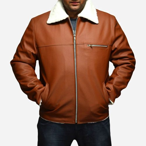 Bane Tan Brown Leather Jacket