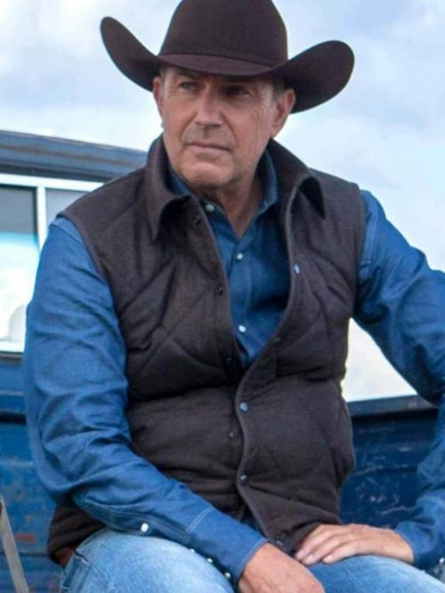 john-dutton-tv series-yellowstone-kevin-costner-quilted-vest
