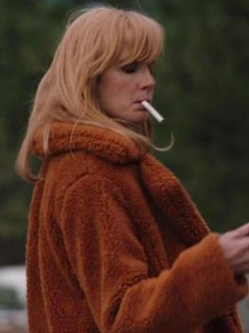 kelly-reilly-yellowstone-shearling-coat