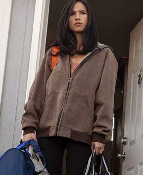 kelsey-asbille-yellowstone-brown-hoodie