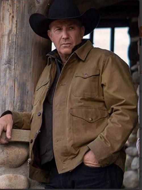 kevin-costner-yellowstone-season-2-cotton-brown-jacket